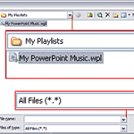 Media Playlists in PowerPoint 2003