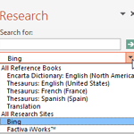 Research Tools in PowerPoint 2013 for Windows