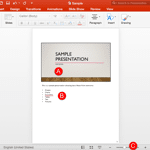 Notes Page View in PowerPoint 2016 for Mac