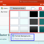 Change Background Styles for Slide Layouts in PowerPoint 2016 for Mac