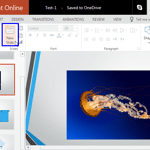 Inserting a New Slide in PowerPoint Online