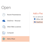 Add Places in PowerPoint 2013 for Windows