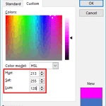 Working with HSL Colors in PowerPoint 2016 for Windows