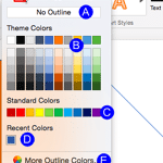 Formatting Lines (and Shape Outlines) in PowerPoint 2016 for Mac