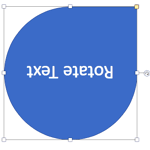 Rotate Text 180° within Shapes in PowerPoint 2016 for Mac