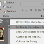 Customize Quick Access Toolbar in PowerPoint 2019 for Windows