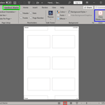 Handout Master View in PowerPoint 365 for Windows