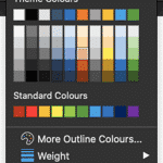No Line for Shapes in PowerPoint 365 for Mac