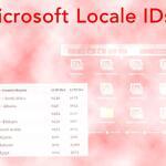 Microsoft Locale IDs