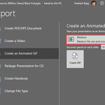 Convert PowerPoint to Animated GIF