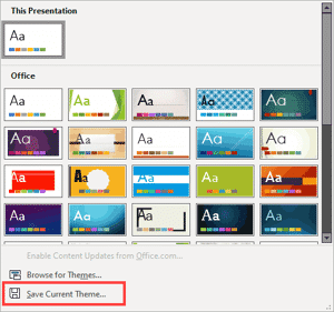 Save a Custom Theme in PowerPoint