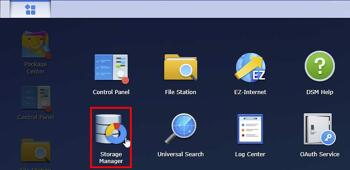 Set up Storage on the Synology DS920+