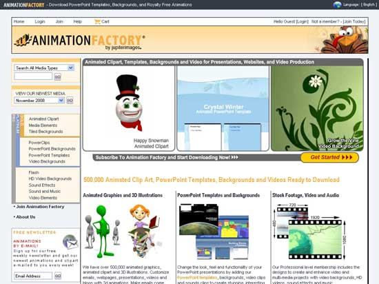 The AnimationFactory site