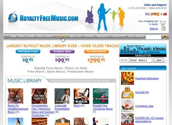 The RoyaltyFreeMusic site