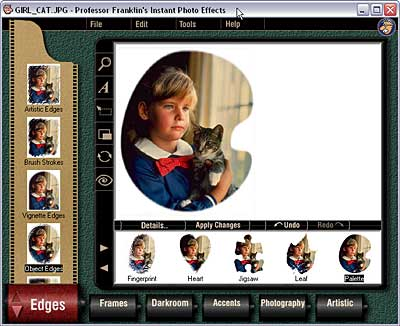 Photo Effects interface