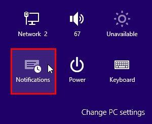 Changed Notifications icon