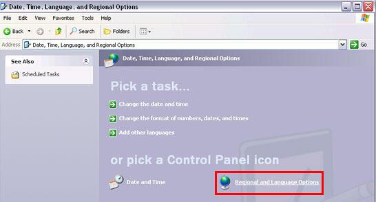 Regional and Language Options icon