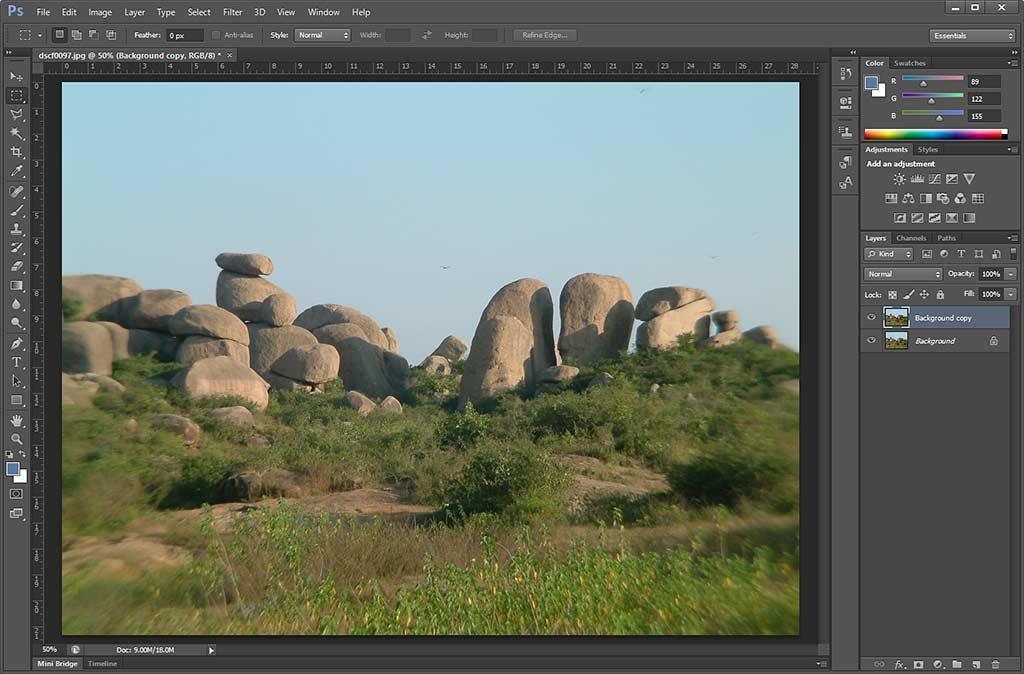 Image opened in Adobe Photoshop