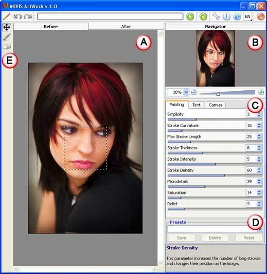 AKVIS ArtWork interface