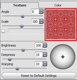Texture tab