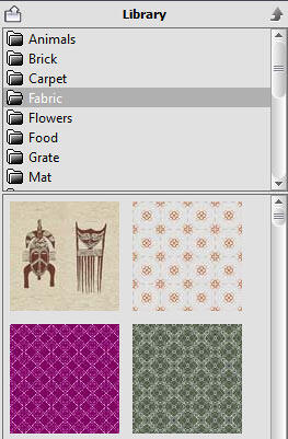 Fabric Texture thumbnails within the Library