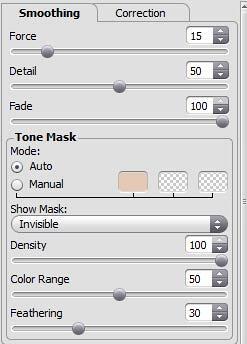 Smoothing tab parameters