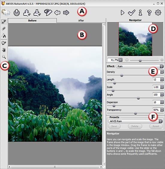 AKVIS NatureArt interface