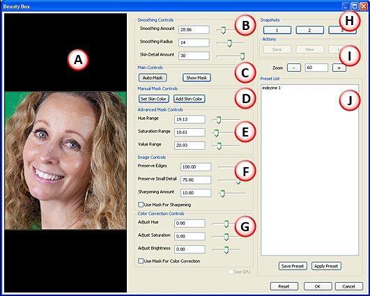 Beauty Box Photo interface