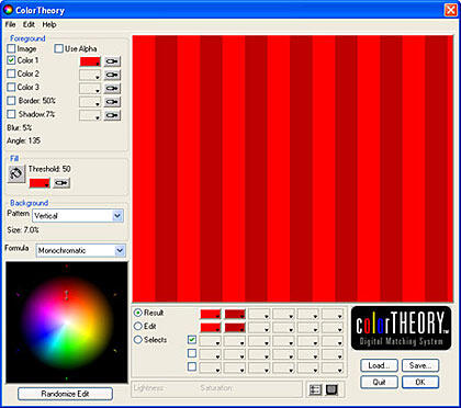 Color Theory interface