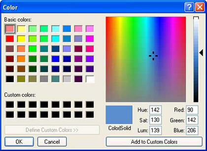 Color dialog box