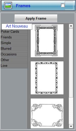 Choose frames from the Frames panel