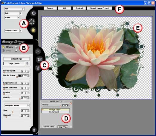 Photo/Graphic Edges interface