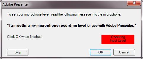 Set microphone level