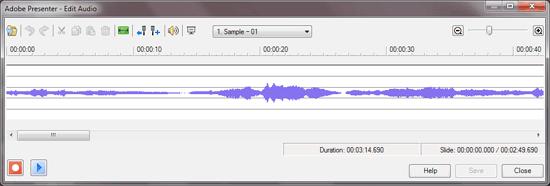 Edit Audio dialog box