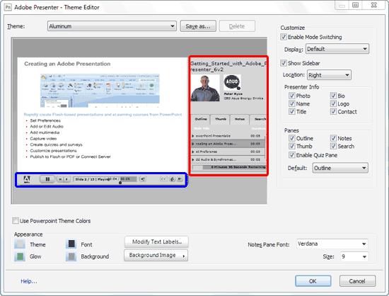 Theme Editor dialog box