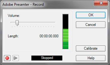 Record dialog box