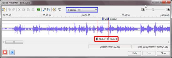 Edit Audio in Adobe Presenter