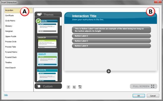 Insert Interaction dialog box