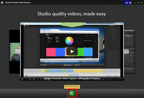 Adobe Presenter Video Express window