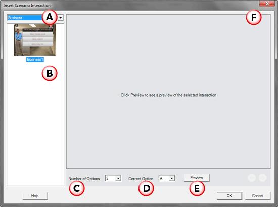 Insert Scenario Interaction dialog box