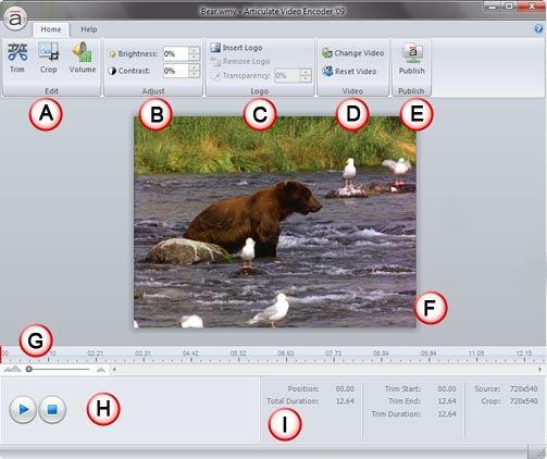 Articulate Video Encoder '09 interface