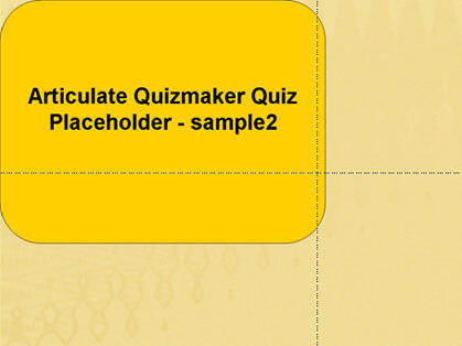 Articulate Quizmaker placeholder in PowerPoint