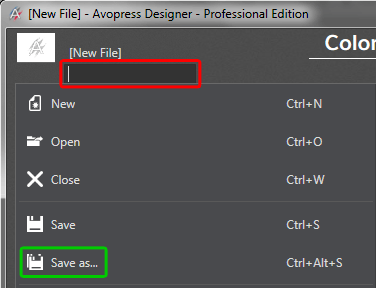Provide name and save the file