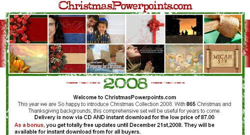 ChristmasPowerPoints.com Site