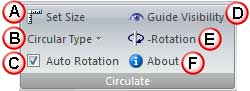 Options within Circulate group