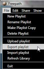 Export playlist