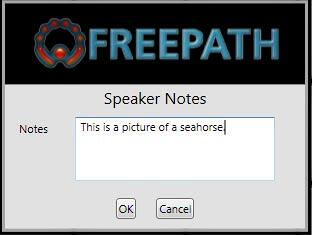 Speaker Notes window