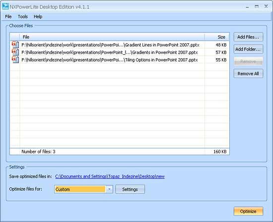 NXPowerLite 4 Interface