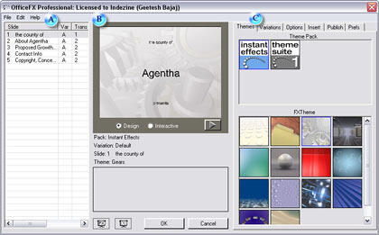 OfficeFX Interface with the FXThemes