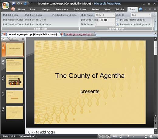 Multiple presentations